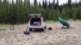 Canoe all ready to go